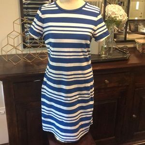 Old Navy Blue & White Cotton Dress